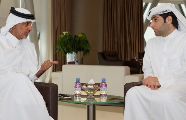 The First Official Meeting between QFA's Present and QPA's President