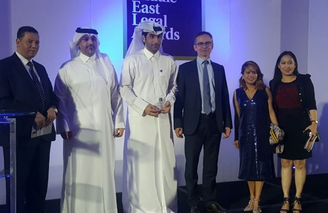 QPA's President receives the Middle East Achievement Award